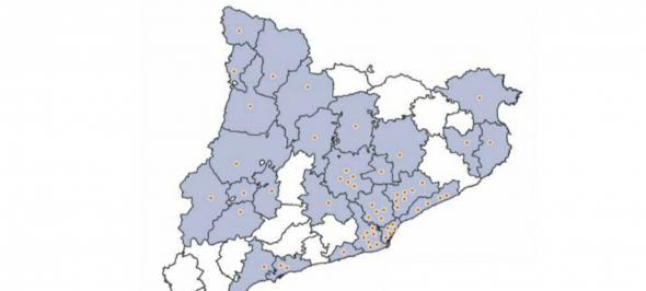 Gedi: 60 municipis i 27 comarques de Catalunya