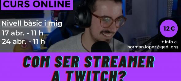 GediMedia realitzarà cursos sobre com fer directes a Twitch