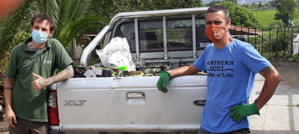 El CREI Castanyers dóna faves al banc d'aliments de Palau-solità i Plegamans