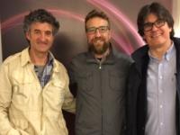 Patxi Uriz, esquerra, guanyador d'un premi Goya